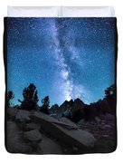 Eruption Of The Milky Way Duvet Cover