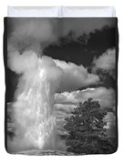 Eruptions By The Clock Duvet Cover