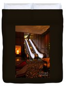 Escalator In The Brown Palace Duvet Cover