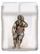 Eskimo Woman And Baby Native American Duvet Cover