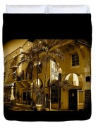 Espanola Way In Miami South Beach Duvet Cover