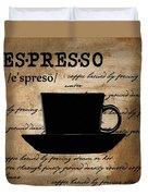 Espresso Madness Duvet Cover