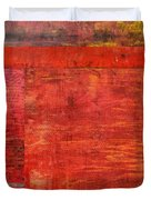 Essence Of Red Duvet Cover by Michelle Calkins