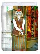 Estonian Greeter In Old Town Tallinn-estonia Duvet Cover