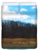 Estuary In Early Spring Duvet Cover