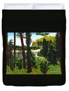 Estuary In Oregon Duvet Cover