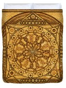 Eternity Mandala Leather Duvet Cover