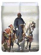 Eunuch Of The Seraglio On A Fine Arab Duvet Cover by Amadeo Preziosi