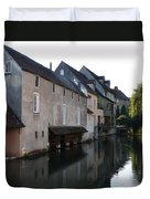 Eure River And Old Fulling Mills In Chartres Duvet Cover