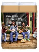 Eureka Springs Novelty Shop String Quartet Duvet Cover by Sam Sidders
