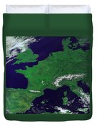 Europe From Above Duvet Cover