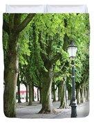 European Park Trees Duvet Cover
