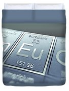 Europium Chemical Element Duvet Cover