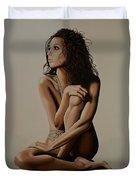 Eva Longoria Painting Duvet Cover