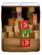 Eve - Alphabet Blocks Duvet Cover