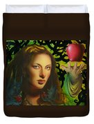 Eve And The Apple Duvet Cover
