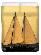 More Sails In Key West Duvet Cover