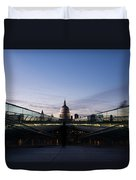 Even The Clouds Aligned With St Paul's Cathedral And The Millennium Bridge - London Duvet Cover