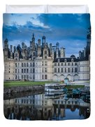 Evening At Chateau Chambord Duvet Cover