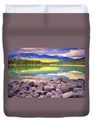 Evening At Lake Annette Duvet Cover