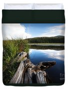 Evening At Red Rock Lake Duvet Cover