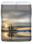 Evening At Sand Harbor Duvet Cover