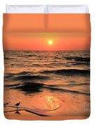 Evening Beach Stroll Duvet Cover