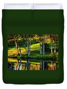 Evening Birches Painted Duvet Cover