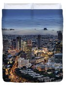 Evening City Lights Duvet Cover