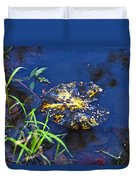 Evening Encloses The Aging Lily Pad Duvet Cover