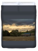 Evening Farm Scene Near Ashland Duvet Cover