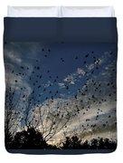 Evening Flock Duvet Cover