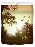 Evening Flying Geese Duvet Cover