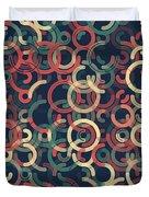 Evening Geometric Circle Segment Pattern Duvet Cover
