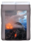 Evening Glow On Half Dome In Yosemite Duvet Cover
