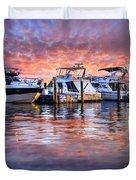 Evening Harbor Duvet Cover