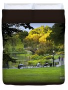 Evening In Central Park Duvet Cover