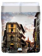Evening In Florence Duvet Cover