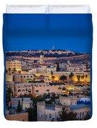 Evening In Jerusalem Duvet Cover