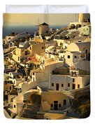 evening in Oia Duvet Cover