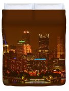 Evening In The City Of Champions Duvet Cover