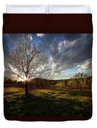 Evening In The Park Duvet Cover