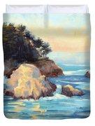 Evening Light Point Lobos Duvet Cover