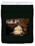 Evening Light Waterfalls Duvet Cover