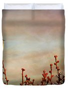 Evening Mocking Bird Duvet Cover