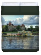 Evening Mood On The Elbe Duvet Cover