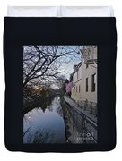 Evening On The Canal Path Duvet Cover