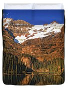 Evening On The Great Divide Painted Duvet Cover