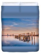 Evening On The Humboldt Bay Duvet Cover