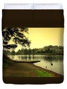 Evening On The Lake Duvet Cover